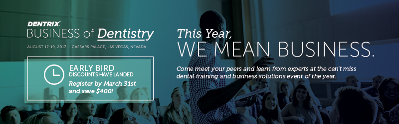 Business of Dentistry 2017 Banner